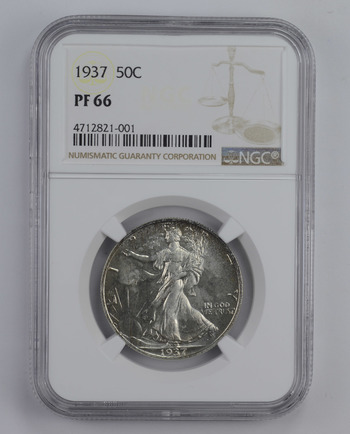 PF66 1937 Walking Liberty Half Dollar - Graded NGC
