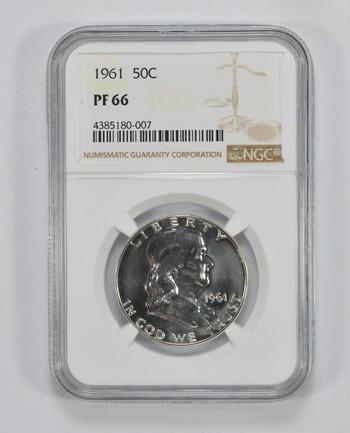 PF66 1961 Franklin Half Dollar - NGC Graded