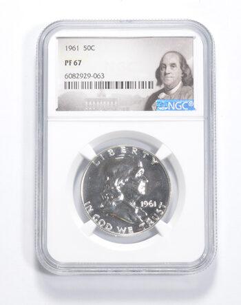 PF67 - 1961 Franklin 90% Silver Half Dollar - NGC