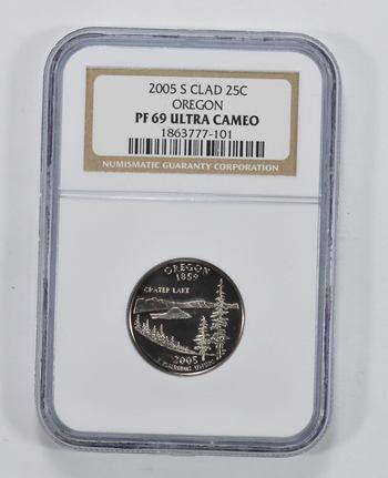 PF-69 ULT CAM 2005-S Oregon State Quarter - Graded NGC