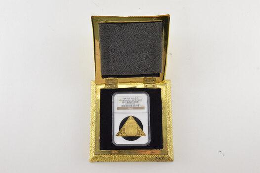 PF70 UCAM 2008 Isle Of Man 1 Crown Gold Coin - Tutankhamun Death Mask - Graded NGC - 1 oz - Fancy Display