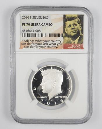 PF70 UCAM 2016-S Kennedy Silver Half Dollar - Graded NGC