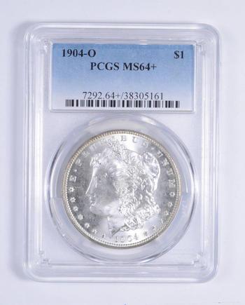 PLUS GRADE - ALMOST There! 1904-O - MS-64+ Morgan Silver Dollar - RARE