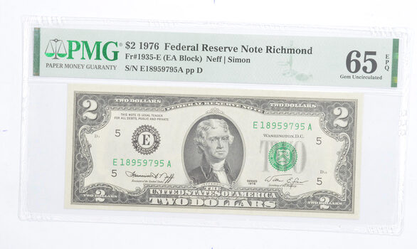 PMG Graded 65EPQ $2 1976 FR 1935-E Bicentennial Note - Consecutive Run (see lots)