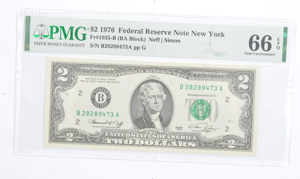 PMG Graded 66EPQ $2 1976 FR 1935-B Bicentennial Note - Consecutive Run (see lots)
