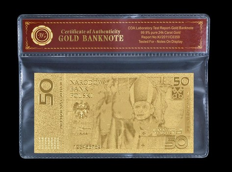 Poland 50 Zloty 2006 Pope John Paul II- Beautifully Packaged Replica Bank Note