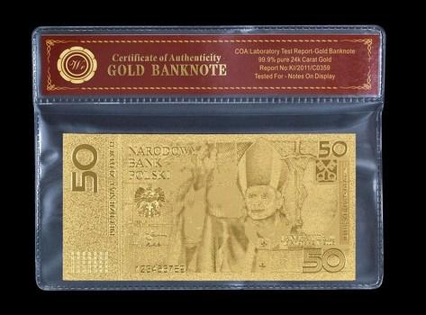 Poland 50 Zloty 2006 Pope John Paul II- Beautifully Packaged Replica Bank Note