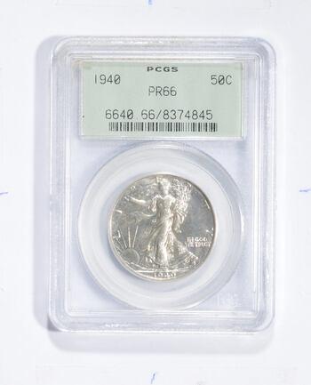 PR66 1940 Walking Liberty Half Dollar - Graded PCGS