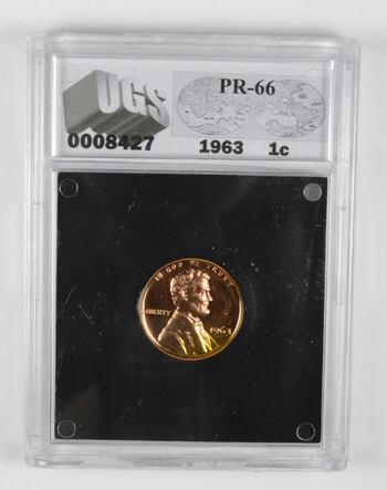 PR66 1963 Lincoln Memorial Cent - Graded UGS
