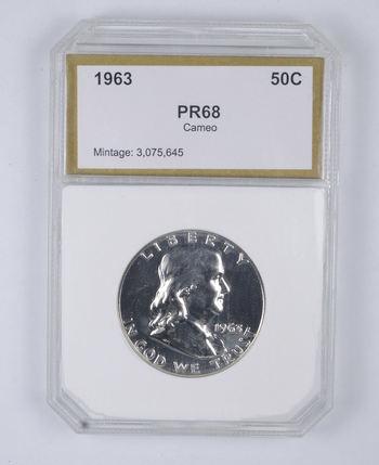 PR68 CAM 1963 Franklin Half Dollar - Graded PCI