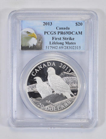 PR69 DCAM 2013 Canada $20 Dollars - First Strike - Graded PCGS - Graded Slabs