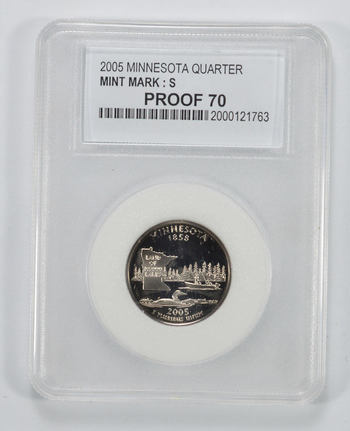 PR-70 2005-S Minnesota State Quarter - Graded PCC
