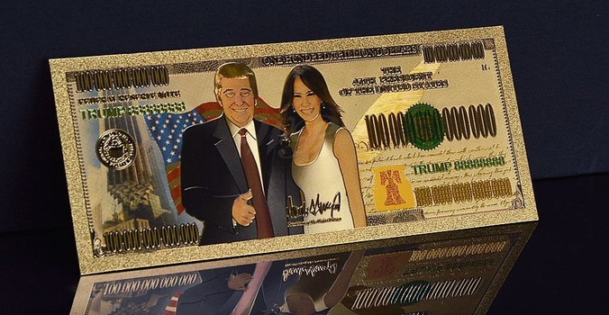 President Donald Trump First Lady One Hundred Trillion Dollars- Replica Bank Note