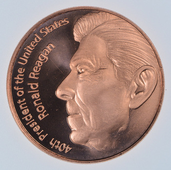 President Ronald Reagan - Commemorative - 1 Oz .999 Fine Copper Round