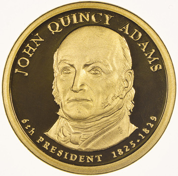 Proof Cameo 2008 John Quincy Adams - Sixth President - Presidential Dollar Coin