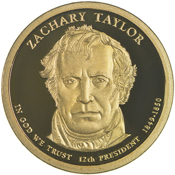Proof Cameo 2009 Zachary Taylor - Twelfth President - Presidential Dollar Coin