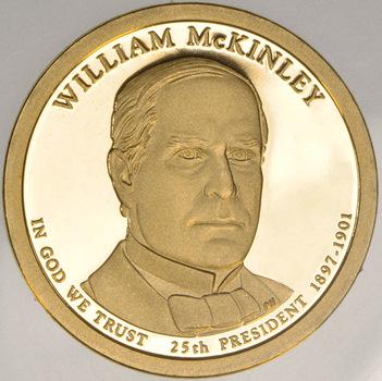 Proof Cameo 2013 William McKinley - Twenty-Fifth President - Presidential Dollar Coin