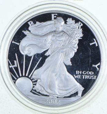 PROOF - NICE - 2002-W American Silver Eagle - DEEP CAMEO Proof - Rare