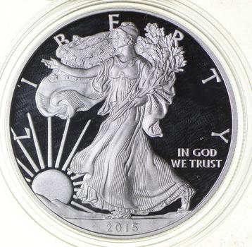 PROOF - NICE - 2015-W American Silver Eagle - DEEP CAMEO Proof - Rare