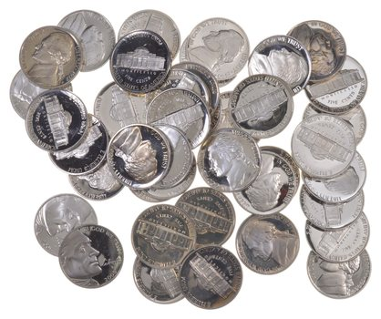 PROOF Roll Jefferson Nickel PR PF 40 Coins Lot Collection Mixed Dates