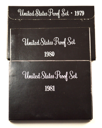 Proof Set Run From1979-1981 - Includes 3 Susan B Anthony Coins! Proof Sets