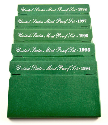 Proof Set Run From1994-1998 - Including 25 Proof Coins!