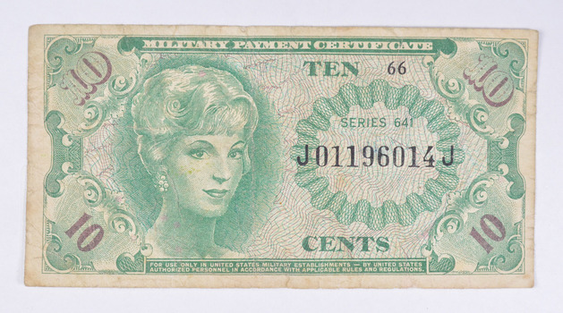 (Randomize) Historic United States Military Payment Certificate - Used by Troops