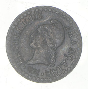 Rare - 1797 France 1 Centime - French Revolution Coinage - Historic!