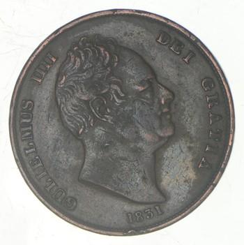 Rare - 1831 Great Britain 1 Penny - Historic!