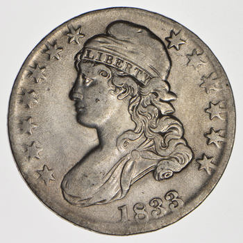 Rare - 1833 BUST Half Dollar - Great Detail - United States Type Coin
