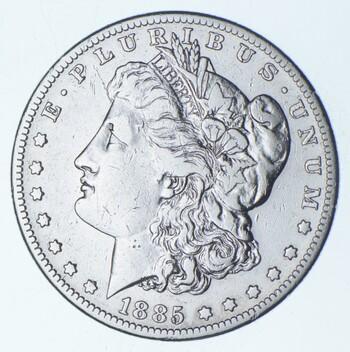 RARE - 1885-S Morgan Silver Dollar - Very TOUGH - High Redbook