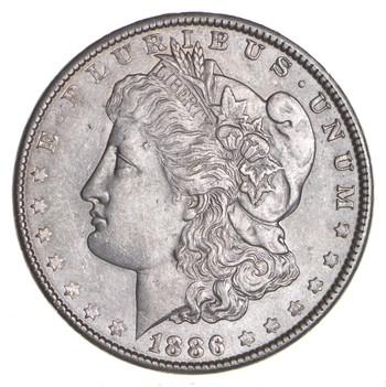 RARE - 1886 Morgan Silver Dollar - Very TOUGH - High Redbook