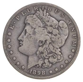 RARE - 1898-S Morgan Silver Dollar - Very TOUGH - High Redbook