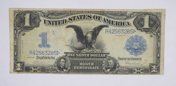 RARE - 1899 - Black Eagle $1.00 Large Size United States Silver Certificate - Iconic Note!