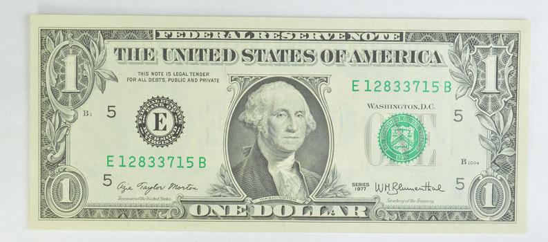 Rare -1977 - Treasurer of the United States Azie Taylor Morton $1.00 Federal Reserve Note - Crisp
