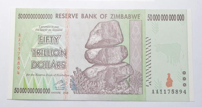 RARE 2008 50 TRILLION Dollar - Zimbabwe - Uncirculated Note - 100 Series