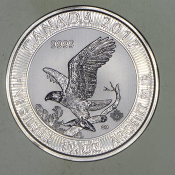 Rare $8.00 2017 Royal Canadian Mint 1.25oz Silver Eagle .999 Low Mintage