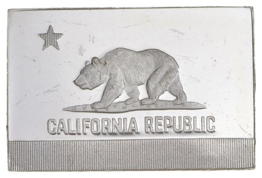 RARE California Flag .925 Sterling Silver - Bar Limited Edition Series