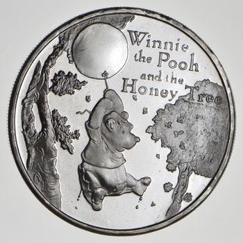 RARE - DISNEY Winnie the Pooh and the Honey Tree - 1 TROY Oz .999 Fine Silver