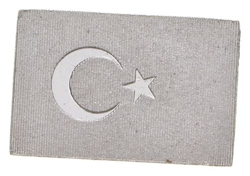 RARE Flag Of Turkey .925 Sterling Silver - Bar Limited Edition Series