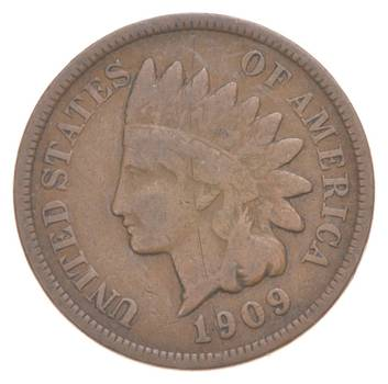Rare Last Year Issue- 1909 Indian Head Cent -High Red Book Value!
