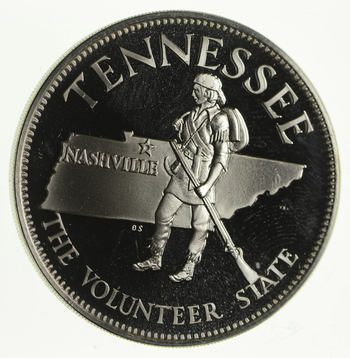 Rare - Limited Edition Tennessee The Volunteer State Sterling Large Silver Medallion 1.2 Troy Ounces!
