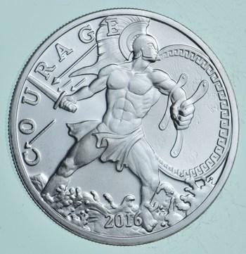 Rare Silver 1 Troy Oz. Courage Round .999 Fine Silver