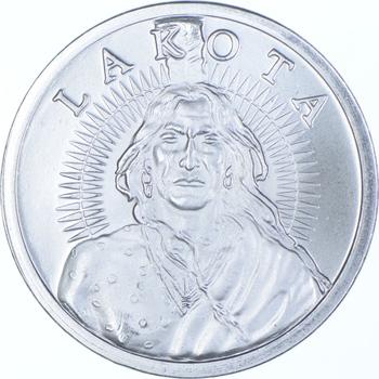 Rare Silver 1 Troy Oz. Free & Independent Lakota Round .999 Fine Silver