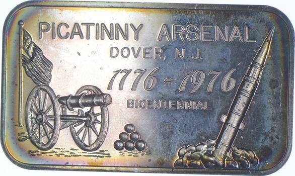 Rare Silver 1 Troy Oz. Picatinny Arsenal Bar .999 Fine Silver