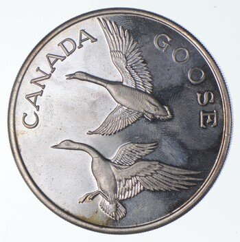 Rare Silver 2 Troy Oz. Canada Goose Round .999 Fine Silver