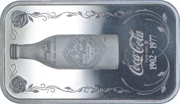 Rare Silver 30.7 Grams Coca-Cola Bar .999 Fine Silver