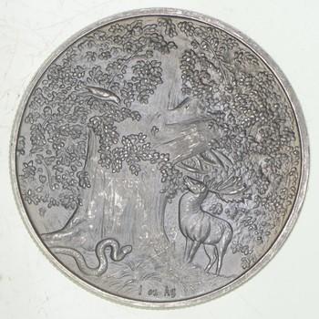 Rare Silver 31.2 Grams Werewolf Round .999 Fine Silver