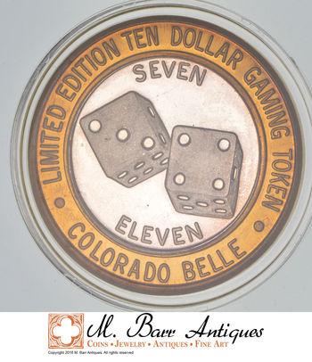 Rare Silver 45.3 Grams Colorado Belle Dice Round .999 Fine Silver