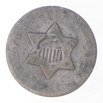 RARE Silver Trime - 1851 Three Cent Silver - 3 Cent Early US Coin - Look it up!